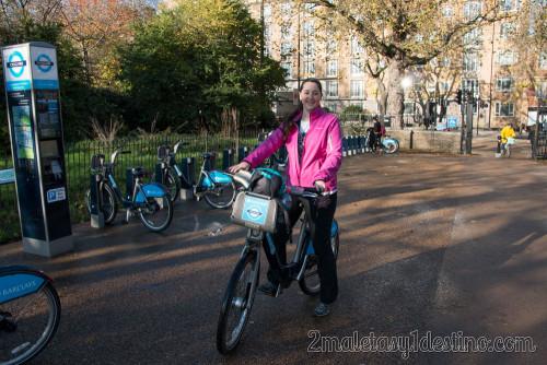 Vanina alquiler bici Hyde Park Londres
