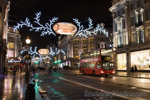 Iluminación de Navidad en Regent Street