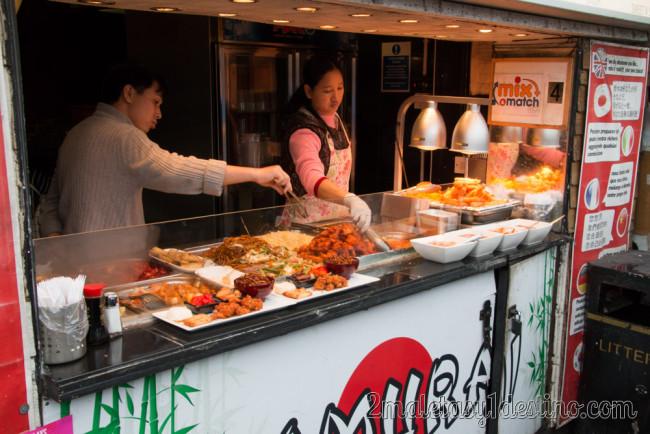 Puesto comida japonesa Camden