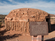 Hogan de la tribu india Navajos