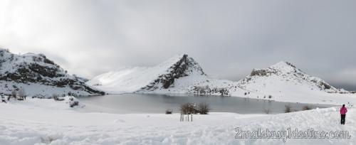 Lagos de Covadonga (Enol) helado