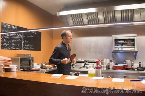 Pedro Martino en la cocina