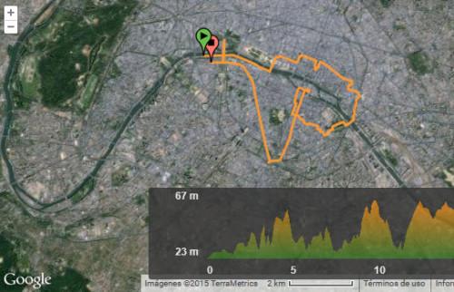 Ruta en bici por París