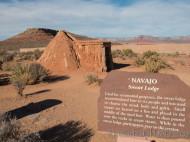 Sweat Lodge de indios Navajos