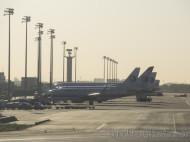 Aviones de China Eastern al amanecer