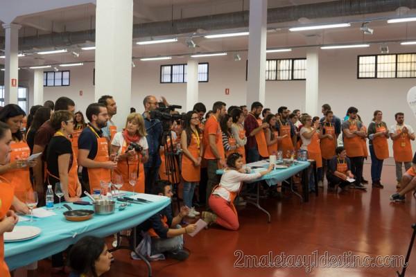 Los participantes aprendiendo