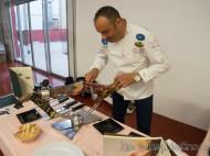 Nico Jiménez cortador de jamón y cuchillo de oro