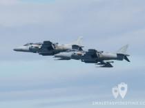 Dos AV-8B Harrier II Plus - Festival Aéreo de Gijón