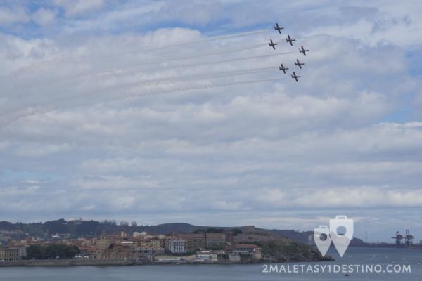 Patrulla Águila en Gijón