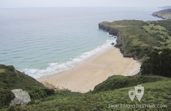 Playa de Andrín desde el mirador de La Boriza (Andrín - Llanes - Asturias)