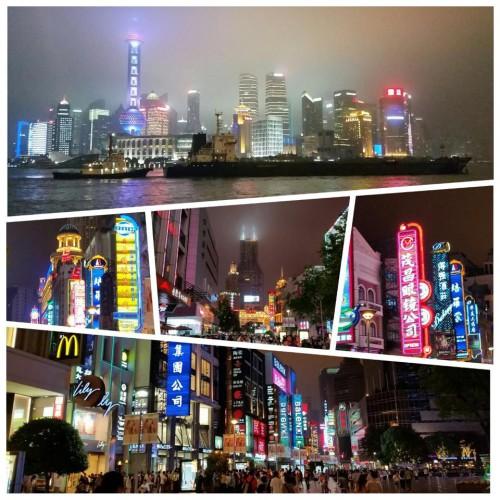 Shanghai de noche (China)