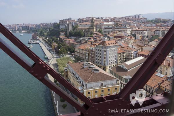 Portugalete desde Puente Vizcaya