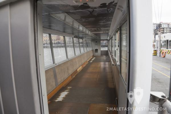 Zona de pasajeros de la barquilla