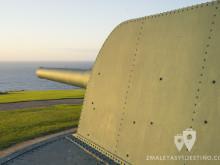 Cañón de la batería defensiva costa