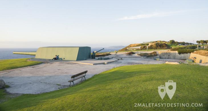 Cañones de la batería costera del Parque del Monte de San Pedro