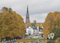 Iglesia frente a parque Frogner