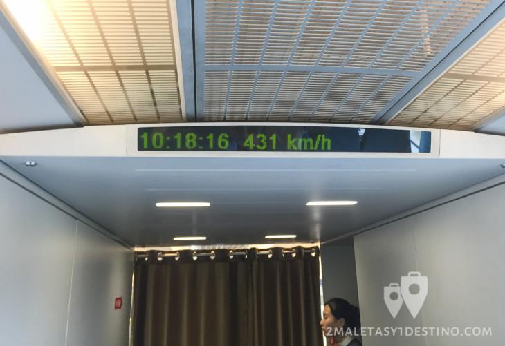 431 kilometros por hora en Maglev