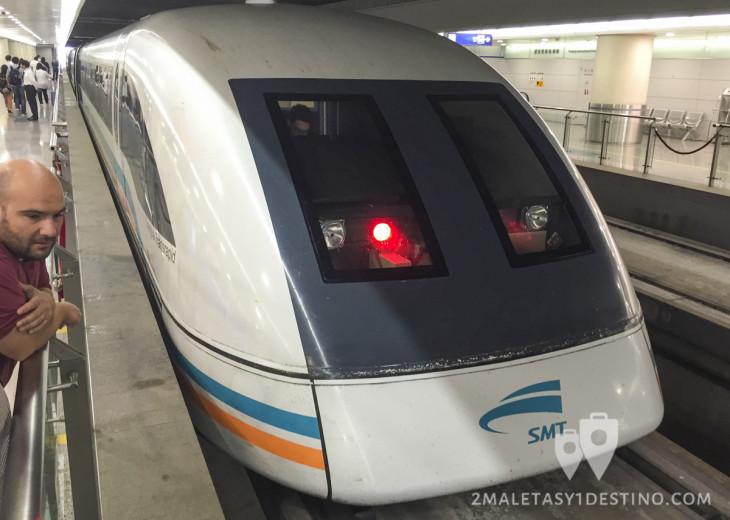 Tren Maglev en el Aeropuerto de Shanghai