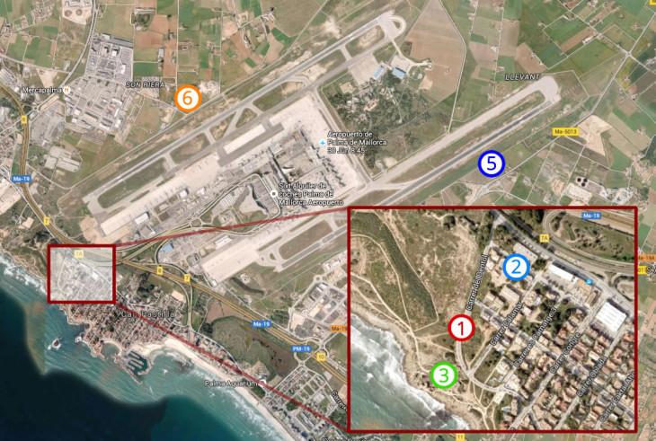 Mapa Spotting Aeropuerto Mallorca PMI