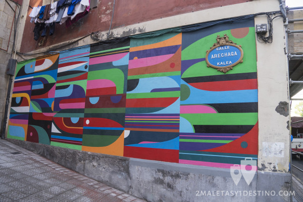 Mural de arte urbano en Bilbao