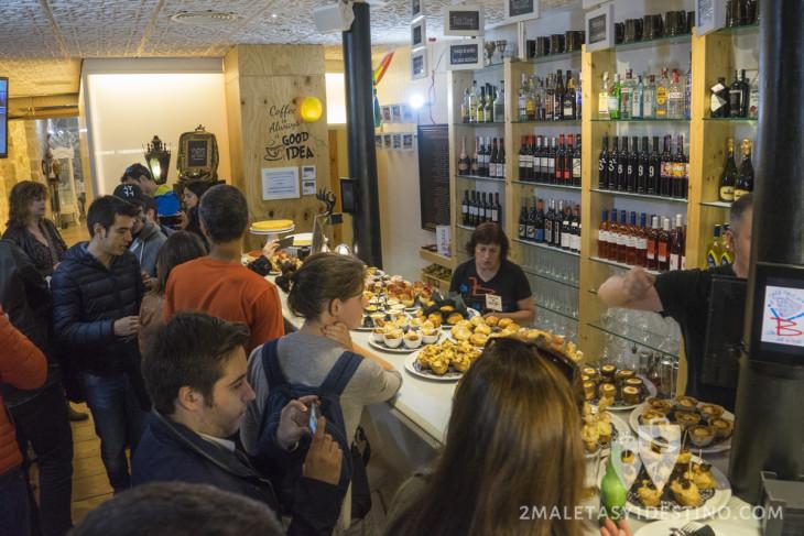 Pintxos vascos y bloggers en Bilbao