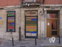 Street art en persianas de Bilbao