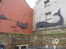 Escultura de pescadores balleneros