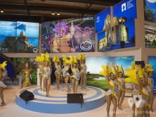 Bailarinas en el stand de Murcia (FITUR 2016)