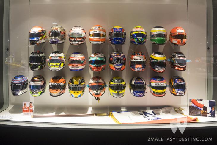 Cascos de pilotos de Formula 1 Museo Fernando Alonso