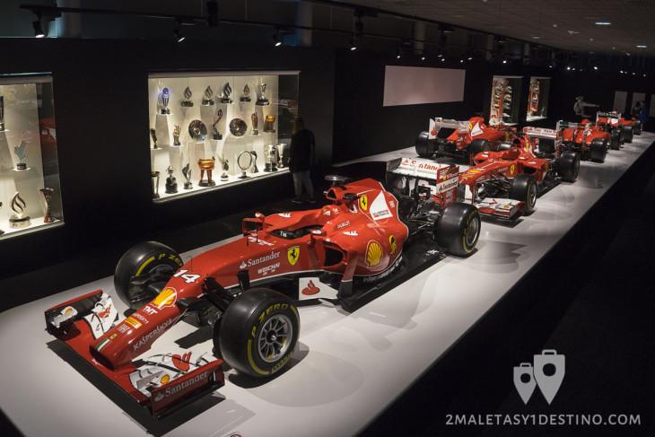 Ferraris de Fernando Alonso en su Museo