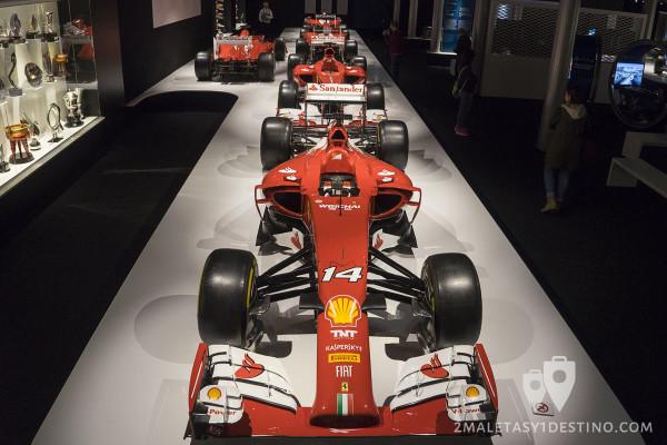 Ferraris en el Museo Fernando Alonso
