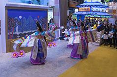 Gisaeng de Corea bailando