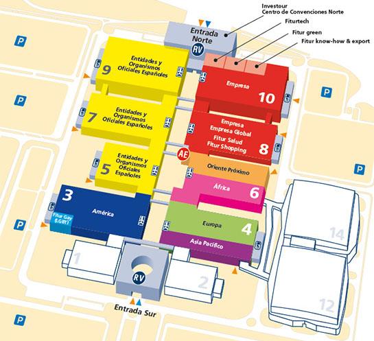 Plano FITUR 2016 mapa