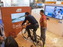 Simulador de la Vuelta a España en el stand de la Comunidad Valenciana