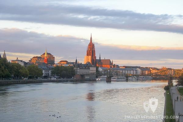 Atardecer en Frankfurt