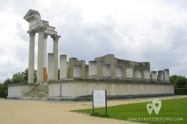 Ruinas en el Museo Arqueológico de Xanten