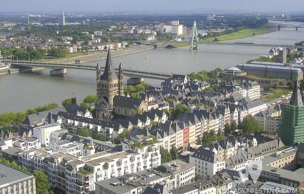 Vistas de Colonia desde la Torre de la Catedral