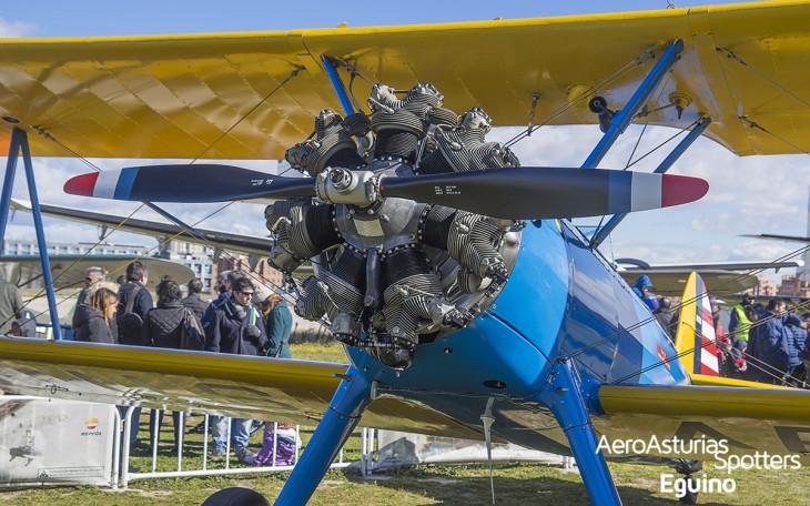 Motor y hélice del Boeing Stearman 75 Kaydet