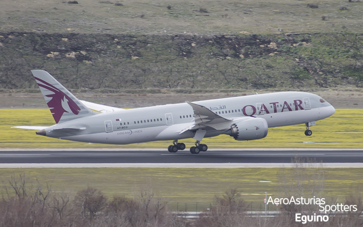 Boeing 787-8 (A7-BCO) Qatar Airways