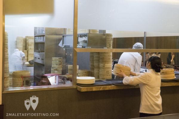 Cocina del Ding Tai Fung