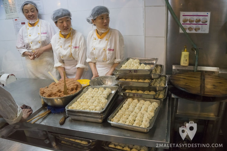 Cocineros y dumplings