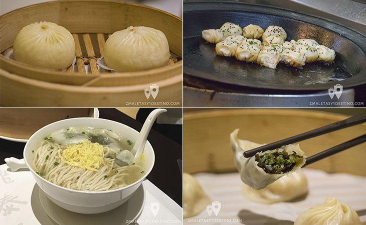 Comida china en Shanghái