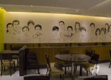 Dibujos de famosos chinos en Ding Tai Fung