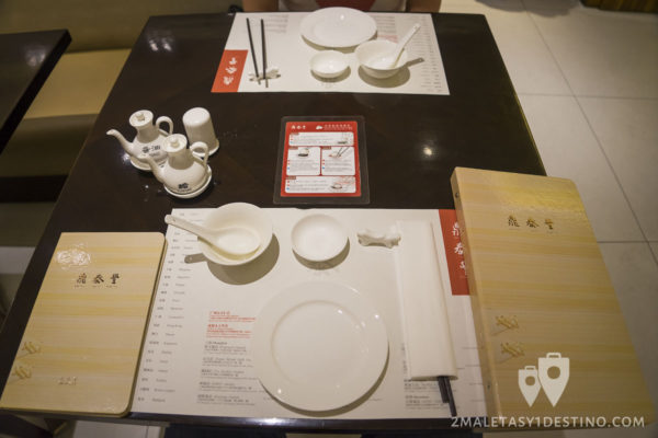 Mesa preparada en Ding Tai Fung