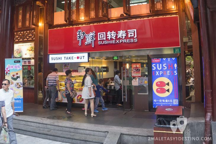 Sushi Express en Yuyuan New Rd