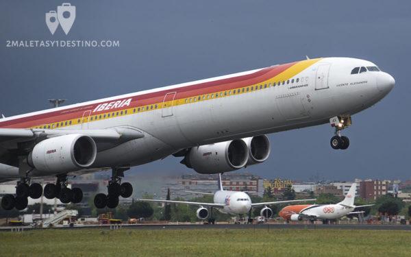 Airbus A340-642 (EC-JCZ) Iberia - Vicente Aleixandre