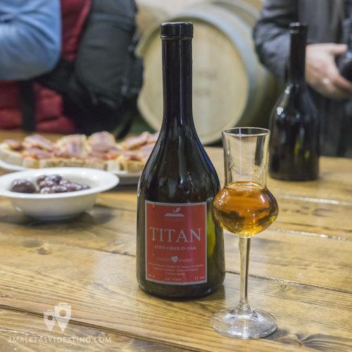 Sidra Panizales - sidra aperitivo Titán botella