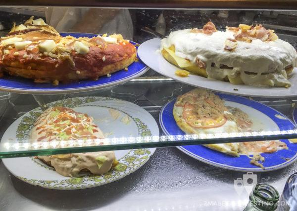 Tortillas rellenas del Mesón Cervantes