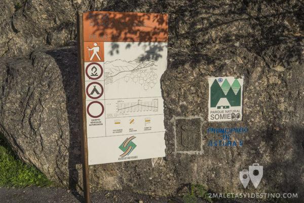 Lago del Valle - Somiedo - Cartel explicativo