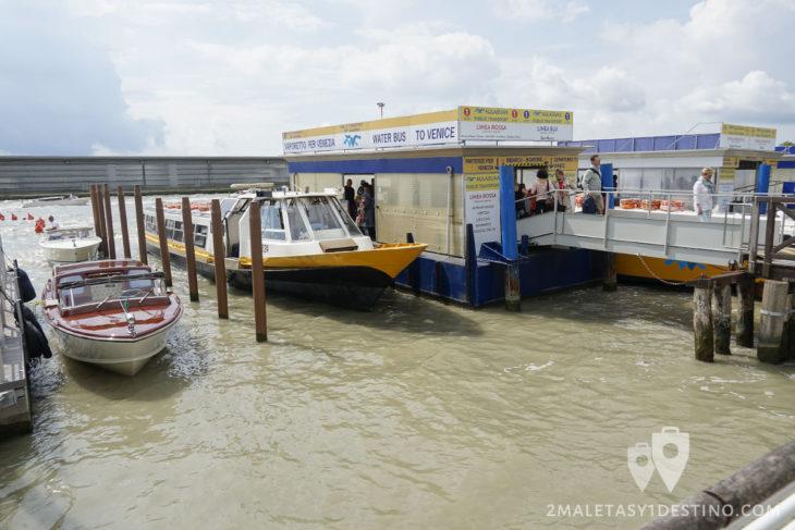 Taxi y Alilaguna en Aeropuerto Marco Polo Venecia